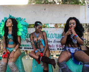 Taking a break from Carnaval in Jamaica