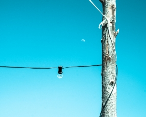 Wood, Wire, Bulb & Moon