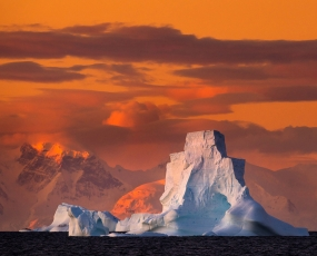 Sunset of Antarctica